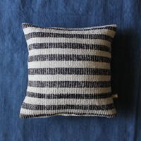 Gara-bou × Khadi Cushion Cover (Charcoal Stripe)