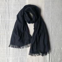 Cotton Silk Khadi Stole (Black)