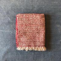 Gara-bou Medium Stole WS Kabe 50×190cm (Herringbone - Ivory red)