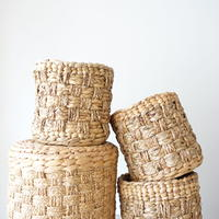 Checkered Basket (S)