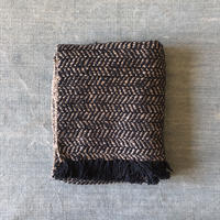 Gara-bou Medium Stole WS Kabe 50×190cm (Herringbone - Navy gray)