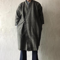 Silk Cotton Tweed Padding Coat (Unisex)