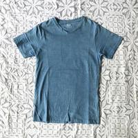 Gara-bou Short Sleeve T-shirts  Natural Dyed Unisex ( Light Indigo )