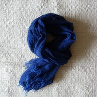 TC Khadi Chambray Stole (Deep Blue)