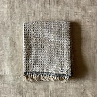Gara-bou Medium Stole WS Kabe 50×190cm (Light Gray Pin Border)