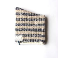 Gara-bou Kitchen Mitten (Indigo Gray Border)