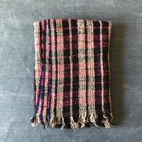 Gara-bou Blanket Stole Kabe 100×190cm (Pink check)