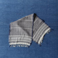 Organic Khadi Basket Face Towels (Gray Chambray)
