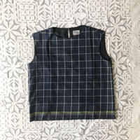 #80 Khadi Sleeveless Tops (Navy)
