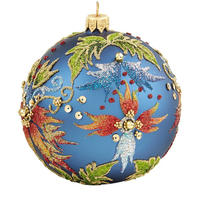Floral Glitter Bauble