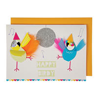 Happy Birdy Birthday Card