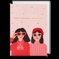 birthday card おしゃれな女の子