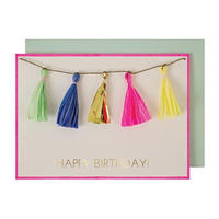 Colored Tassels Card