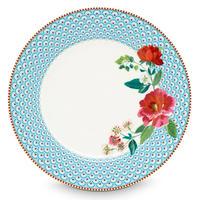 Floral dinner plate Rose Blue