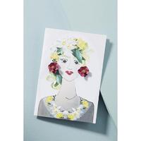 Garden Girl Earrings & Postcard Raspberry