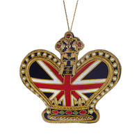 Union Jack Crown Tree Decoration