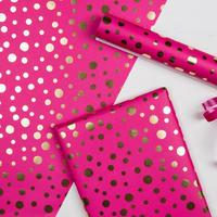 Gold Spot  ラッピングペーパー pink