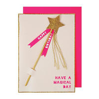 Magic Wand Birthday Card