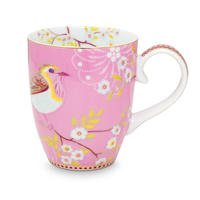Floral Mug  Early Bird Pink