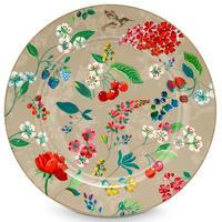 Floral under plate Khaki