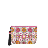 Floral Embroidered Pouch