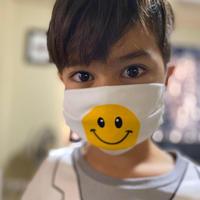 ハンドメイドマスク(2layer) SMILE