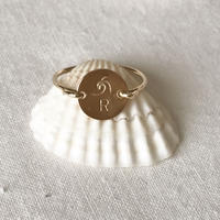 【Risusu Lenis】Initial  Stamp Ring  BOXあり