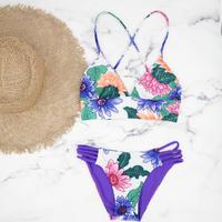 即納 A-string reversible long under bikini Purple back