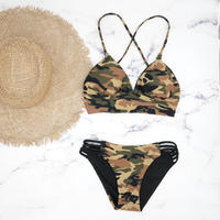 即納 A-string reversible long under bikini Army