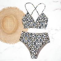 即納 A-string high waist long under bikini Crayon leopard