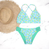 即納 A-string reversible long under bikini Right green