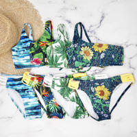 即納 For Girls Tropical one shoulder desing bikini