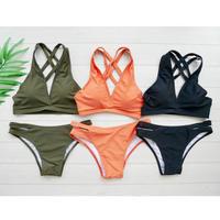 即納 4Line cross desing bikini 3color