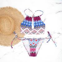 即納 Trapezoid center open design bikini