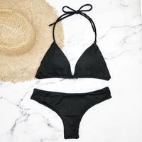 即納 String desing simply brazillian bikini Black