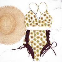 即納 A-string high waist long under bikini Sunflower