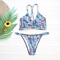 即納 String cut out desing brazillian bikini Natural