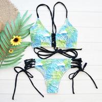 即納 Back crochet desing bikini Bright
