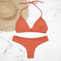 即納 String desing simply brazillian bikini Orange