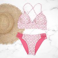 即納 A-string reversible long under bikini Pink damask