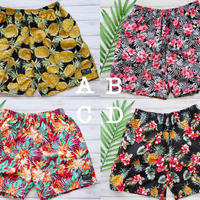 即納 Men's beach short pants Flower