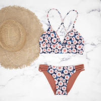 即納 A-string reversible long under bikini Flower