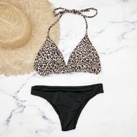 即納 String desing simply brazillian bikini Leopard
