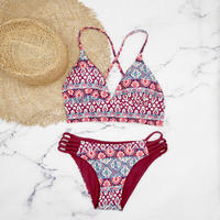即納 A-string reversible long under bikini Ethnic