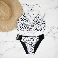 即納 A-string reversible long under bikini Dalmatian