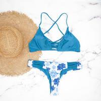 即納 Triangle brazilian design bikini Mint blue