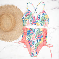 即納 A-string high waist long under bikini Bright tropical