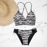 【予約販売】 A-string reversible long under bikini Zebra