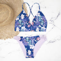 即納 A-string reversible long under bikini Purple botanical