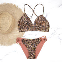 即納 A-string reversible long under bikini Clash Leopard
